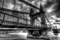 Hammersmith Bridge London by David Pyatt