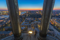 Blick vom Michel Hamburg Sonnenuntergang by Dennis Stracke