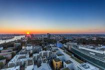 Blick vom Michel Hamburg Sonnenuntergang von Dennis Stracke