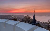 Morgends im Nebel an der Elbe Hamburg von Dennis Stracke