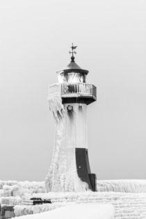 Eiszeit an der Mole in Sassnitz Rügen von Dennis Stracke