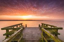 Sonnenaufgang am Badesteg von Dennis Stracke