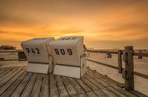 Strandkorb Urlaub an der Nordseeküste von Dennis Stracke