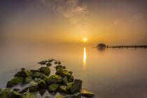 Wolkenlos am Timmendorfer Strand Ostsee von Dennis Stracke