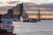 Hamburg Elbphilharmonie im Hafen Hamburg Landungsbrücken by Dennis Stracke