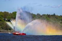 Feuerschiff in der Elbe von Dennis Stracke