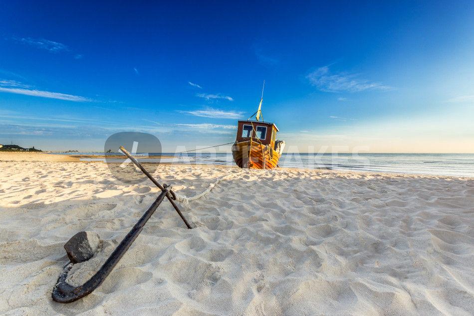 Auf dem trockenen am strand von usedom ostsee - Anker englisch ...