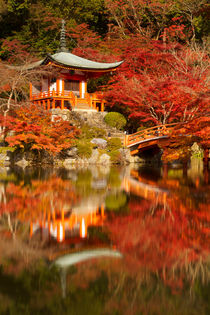 Autumn colours at Daigo-ji Temple in Kyoto, Japan von Sara Winter