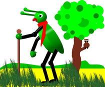 Grashuepfer auf Wanderschaft.... von Thea Ulrich