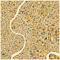 BANGKOK MAP von Jazzberry  Blue