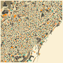BARCELONA MAP von Jazzberry  Blue