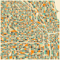 CHICAGO MAP von Jazzberry  Blue