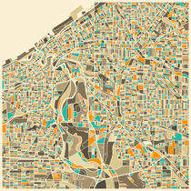CLEVELAND MAP von Jazzberry  Blue