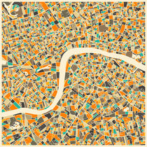 LONDON MAP 1 by Jazzberry  Blue