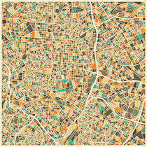 MADRID MAP by Jazzberry  Blue