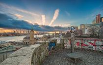 Blick vom Stintfang Hamburg Hafen Landungsbrücken von Dennis Stracke