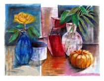 Stilleben mit Kurbis / Still Life with Pumpkin by J.P. Texon