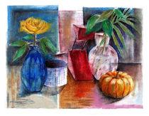 Stilleben mit Kurbis / Still Life with Pumpkin von J.P. Texon
