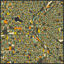 DENVER MAP by Jazzberry  Blue