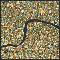 LONDON MAP 2 by Jazzberry  Blue
