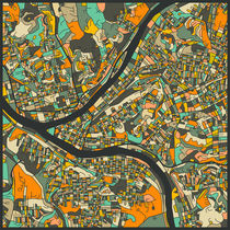 PITTSBURGH MAP von Jazzberry  Blue