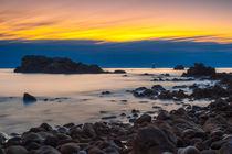 Sunset at Phare du Four, Bretagne by Moritz Wicklein