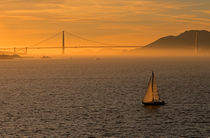 Golden Gate Bridge Golden Light von Jim Corwin