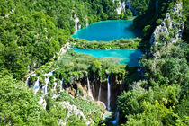 Incredible View Of Plitvice Lakes And Waterfalls von Sergey Tsvetkov