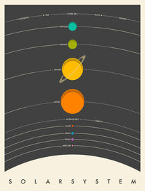 SOLAR SYSTEM - GREY 1 by Jazzberry  Blue