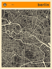 BERLIN MAP von Jazzberry  Blue