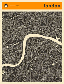 LONDON MAP 3 von Jazzberry  Blue