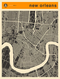 NEW ORLEANS MAP von Jazzberry  Blue