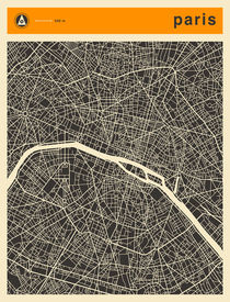 PARIS MAP by Jazzberry  Blue