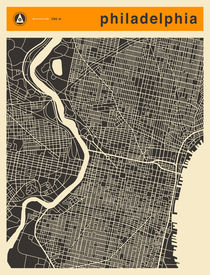 PHILADELPHIA MAP by Jazzberry  Blue