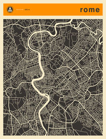 ROME MAP von Jazzberry  Blue