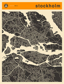 STOCKHOLM MAP von Jazzberry  Blue