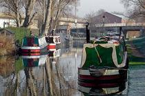 Boats At Horninglow Basin von Rod Johnson