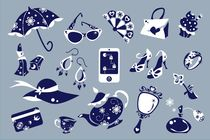 Women Accessories - Shoes Shopping Bag - Vector Icons von nacasona