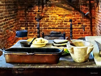 Mortar and Pestles in Colonial Kitchen by Susan Savad