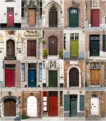 Türen aus Brügge, Belgien. by Frank Mitchell