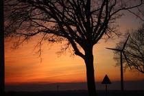 Sonnenuntergang in der Nähe von Lüneburg 28.02.2016   3. von Simone Marsig