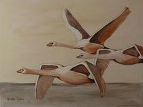 Fliegende Schwäne von wiebke