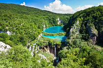 Incredible View Of Plitvice Lakes And Waterfalls by Sergey Tsvetkov
