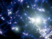Population III stars clustered together.