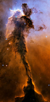 Stellar Spire in the Eagle Nebula. by Stocktrek Images