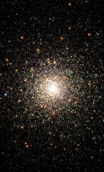 Globular star cluster NGC 6093. by Stocktrek Images