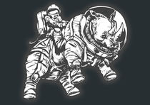 spacerhino by Edison Wormhole
