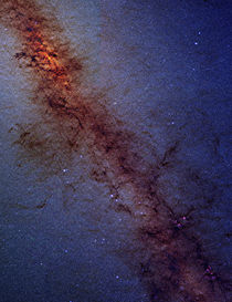 The center of our Milky Way Galaxy. by Stocktrek Images