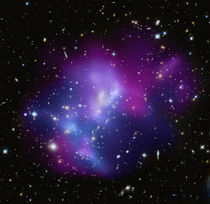 The massive galaxy cluster MACS J0717. by Stocktrek Images