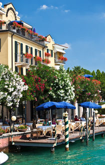 The hotel Sirmione on the lake Garda von Sergey Tsvetkov